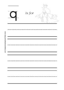 Letter q is for Queen Worksheet