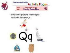Letter Q Words Worksheet