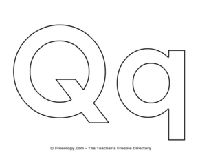 Letter Qq Worksheet