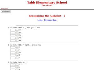 Letter Recognition Worksheet