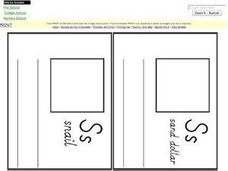 Letter S Pages for Mini Book Worksheet