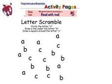 Letter Scramble Worksheet