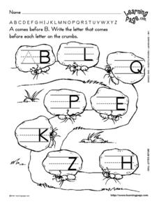 Letter Skills Worksheet