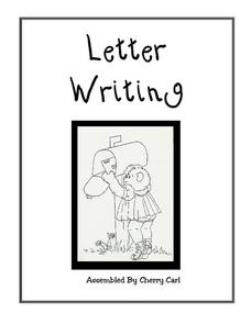 Letter Writing Worksheets Printables & Template