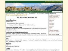 Letter Writing Workshop Lesson Plan