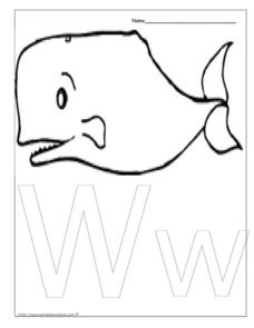 Letter Ww is for Whale Worksheet