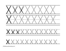 Letter Xx Tracing Worksheet