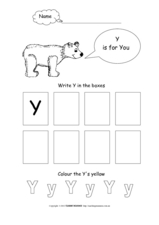 Letter Y Activity Worksheet