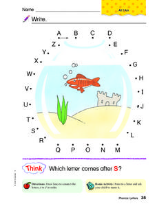Letters A to Z Worksheet