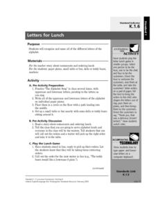 Letters for Lunch Lesson Plan