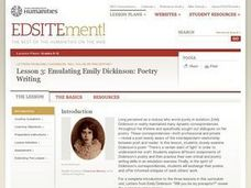 Letters from Emily Dickinson: Poetry Writing Lesson Plan