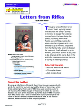 letters from rifka summary comprehension questions island lesson plans 23340 | letters from rifka lesson plan