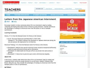 Letters from the Japanese American Internment Lesson Plan