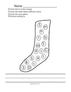 Letters: Practice with S Worksheet