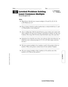 math worksheet : least common multiple examples 6th grade  lcm homework help  : Least Common Multiple Worksheet 5th Grade