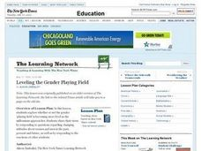 Leveling the Gender Playing Field Lesson Plan