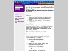 Levels of Government in California Lesson Plan