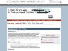 Lewis and Clark In Columbia River Country Fort Clatsop Lesson Plan