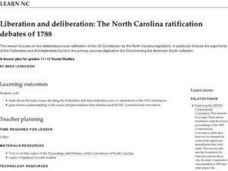 Liberation and Deliberation: The North Carolina Ratification Debates of 1788 Lesson Plan