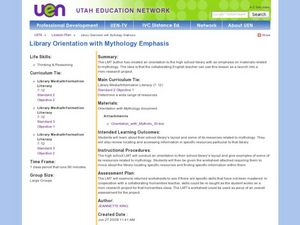 Library Orientation with Mythology Emphasis Lesson Plan
