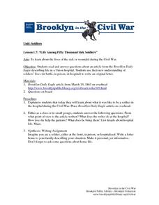 Life Among Fifty Thousand Sick Soldiers Lesson Plan
