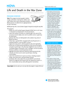 Life and Death in the War Zone Lesson Plan