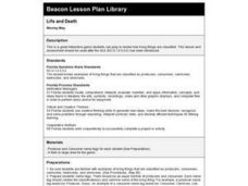 Life And Death Lesson Plan