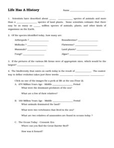 Life Has A History 6th - 9th Grade Worksheet | Lesson Planet