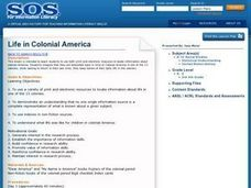 Life in Colonial America Lesson Plan