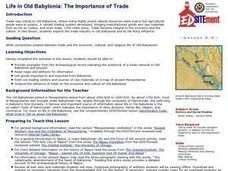 Life in Old Babylonia: The Importance of Trade Lesson Plan