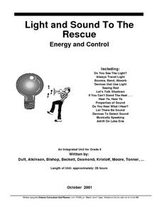 Light And Sound To the Rescue Lesson Plan