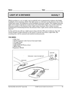 Light At a Distance Lesson Plan