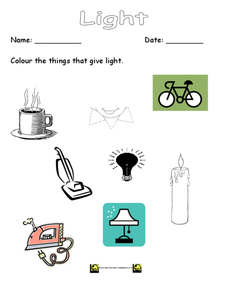 Light Worksheet