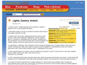 Lights, Camera, Action Lesson Plan