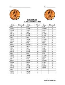 Images of Free Wheat Penny Price List - #rock-cafe