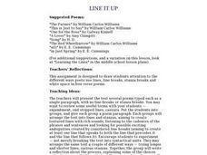 Line It Up Lesson Plan