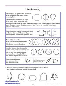 Line Symmetry Worksheet