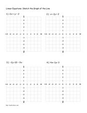 Linear Equations: sketch the graph of the line Lesson Plan