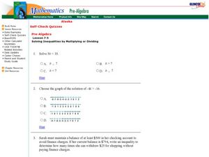 Linear Inequality Worksheet