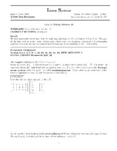 Linear Systems:  Rectangular Matrices Worksheet