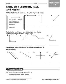 worksheets on lines segments and rays worksheets releaseboard free printable worksheets and. Black Bedroom Furniture Sets. Home Design Ideas