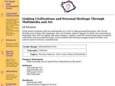 Linking Civilizations and Personal Heritage Through Multimedia and Art Lesson Plan