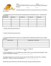 lion king movie review 5th 7th grade worksheet lesson planet. Black Bedroom Furniture Sets. Home Design Ideas