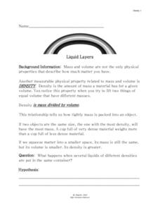 Liquid Layers Lesson Plan