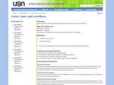Listen, Learn, and Love Music Lesson Plan