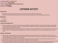 Listening Activity Lesson Plan