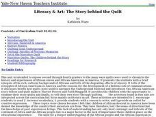 Literacy & Art: The Story behind the Quilt Lesson Plan
