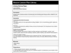 Literary Devices Paper Lesson Plan