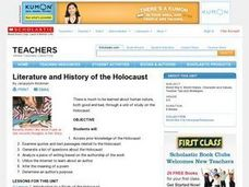 Literature and History of the Holocaust Lesson Plan