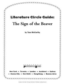 Literature Circle Guide: The Sign of the Beaver 4th - 7th Grade ...